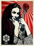 REVOLUTIONARY WOMAN WITH BRUSH / SHEPARD FAIREY (OBEY).