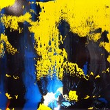 Carole Bécam , abstrait peinture a lhuiloe abstract art