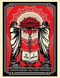 KNOWLEDGE ACTION POWER - SHEPARD FAIREY (OBEY) achat vente.