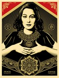 PEACE AND JUSTICE WOMAN / SHEPARD FAIREY (OBEY).