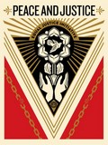 PEACE AND JUSTICE Summit / SHEPARD FAIREY (OBEY).